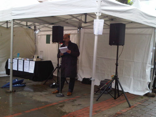 Arnold Jansen op de Haar at Manchester Independent Book Market