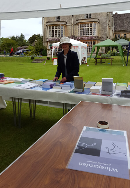 publisher preparing the stall