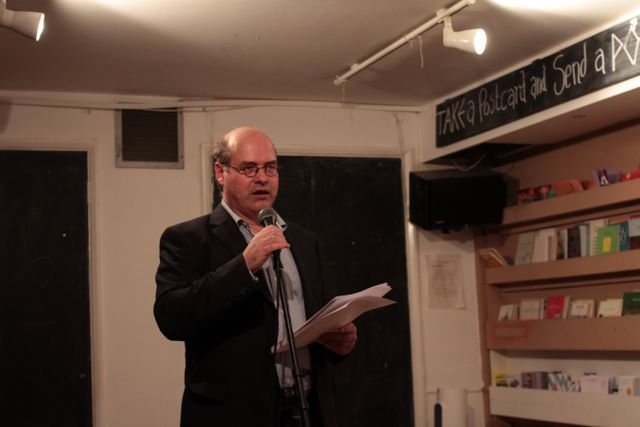 The author reciting one of his poems